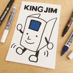 This is the King Jim stationery mascot doing a happy dance!  Made by Diana with:  Sakura Pen-Touch Paint Markers http://to.jetpens.com/2em2BVm Uni Posca Markers in Extra Fine http://to.jetpens.com/2exj7kL . Clickable link in Instagram profile! . #instajetpens #kingjim #sakurapentouch #pentouch #paintmarkers #inktober #inktober2016 #jetpensforinktober #uniposca #poscamarkers