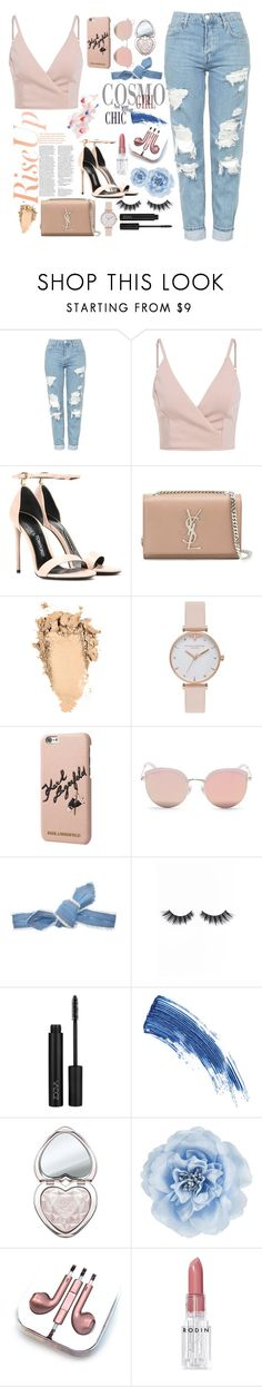 """""""Rise up"""" by selenaisunshine ❤ liked on Polyvore featuring Topshop, Patricia Padrón, Tom Ford, Yves Saint Laurent, Olivia Burton, Karl Lagerfeld, Stephane + Christian, Colette Malouf, Violet Voss and Eyeko"""