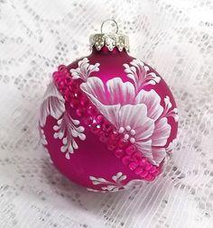 Hot Pink Hand Painted White MUD Texture by MargotTheMUDLady