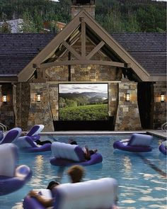 Swimming pool theater. ...