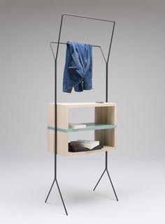 Italian designer Simone Simonelli presented three little mobile storage units in Milan last month.