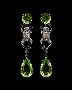 lydia courteille collection | Peridot Drop Frog Earrings Lydia Courteille Collection CoutureLab com ...