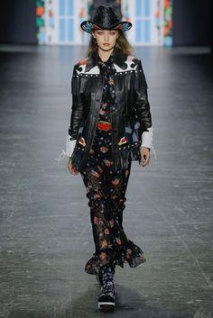 Gigi Hadid walks for Anna Sui New York Spring/Summer 2017 Ready-To-Wear Collection | British Vogue