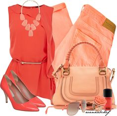 A fashion look from February 2013 featuring red ruffle top, zipper skinny jeans and coral pumps. Browse and shop related looks. Fashion Beauty, Girl Fashion, Fashion Looks, Fashion Outfits, Womens Fashion, Fashion Sets, Dressed To The Nines, Professional Outfits, How To Look Pretty