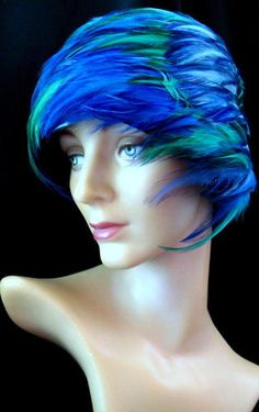 Vintage 60's Blue & Green Feather Hat!   eBay