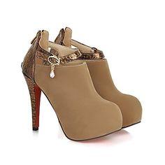 Boots à talon, couleur Crème
