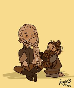 Legolas and Gimli. Who comes up with this?? It's great!