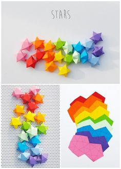 DIY Cut and Fold Lucky Paper Stars Tutorial and Template from minieco here.