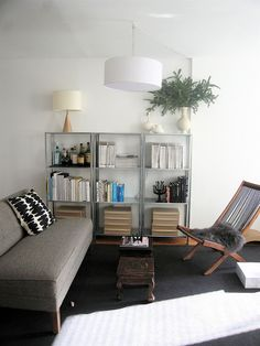 Love these Hyllis shelves! I'm also digging the Brommo outdoor chairs used indoors, although for efficiency I may need to pick something that can double as a dining chair - those are too loungy.