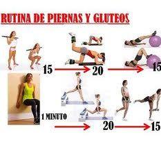 Rutina Especial Mujer Fitness Gluteos y Piernas con Parte Superior