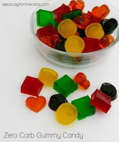 Zero Carb Gummy Candy - a sweet fruity treat! Perfect for anyone on a low carb diet.