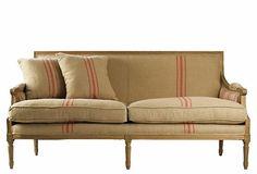 sofa canape lino vintage