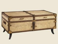 Shop for Henry Link Trading Co. Jewel Of The Nile Trunk Cocktail, 4011-610, and other Living Room Tables at Goods Home Furnishings in North Carolina Discount Furniture Stores. Finish: Sandy Croc. This leather-clad trunk features an embossed croc pattern, trimmed in rich vegetable-tanned leather and accented with antique brass nail head trim and solid brass corner hardware.