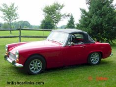 Austin Healey Sprite. The second car I owned. Mine was blue. Fun. Fun. Fun to drive!