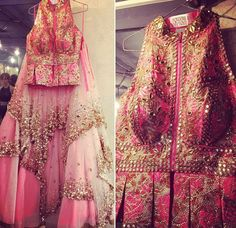 Gorgeous pink anarkali by Papa Dont Preach , Mumbai https://www.wedmegood.com/vendors/profile/Papa-Dont-Preach-5086