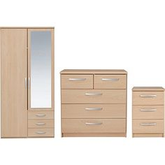 Buy New Hallingford 3 Piece 2 Dr Wardrobe Package - Light Oak at Argos.co.uk, visit Argos.co.uk to shop online for Bedroom suites and packages