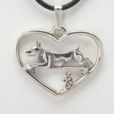 Sterling Silver Rat Terrier Necklace by Donna Pizarro from her Animal Whimsey Collection of Fine Dog Jewelry & Rat Terrier Jewelry by DonnaPizarroDesigns on Etsy