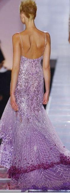 Versace lavender gown
