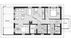Ainoa Idea 88 | Ainoakoti Floor Plans, Floor Plan Drawing, House Floor Plans