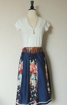 Vintage 70s Floral Skirt. $24.00, via Etsy.