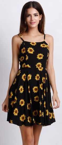 Being cheerful and lively just like the sunflower printed in the dress. Show your sunny side in this hot summer. Find it at OASAP.