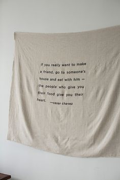 Screen Printed Banner  |  Sunday Suppers pop up shop