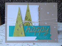 Stampin' Up! demonstrator Donna W's project showing a fun alternate use for the Watercolor Winter Simply Created Card Kit.