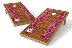 Alabama Crimson Tide Single Cornhole Board - Vertical