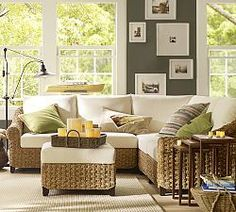 Seagrass Square Arm 4Piece Sectional Sunroom Sunroom decorating