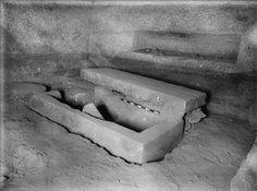 Digital Giza | Red granite sarcophagus of Kawab Digital Giza - Harvard University, Eastern Cemetery: Site: Giza; View: G 7110-7120