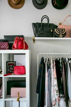 Jenny Bernheim of Margo & Me's Los Angeles Art Deco Home – More Interior Design … Le Closet, Closet Space, Closet Tour, Dressing Room Design, Dressing Rooms, Office Wardrobe, Wardrobe Room, Art Deco Home, Dream Closets