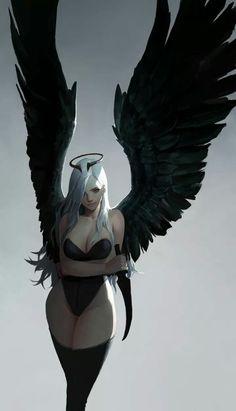 Tagged with art, hot, fantasy; Neat Fantasy Art by dongho Kang. Dark Fantasy Art, Fantasy Artwork, Fantasy Anime, Fantasy Women, Fantasy Girl, Dark Art, Demon Artwork, Fantasy Art Angels, Fantasy Character Design