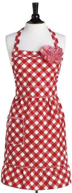 Giant Gingham Courtney Apron ~ for picnics & BBQs ... #wedding wishlist #bridal shower gift