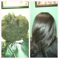 Natural hair blowout