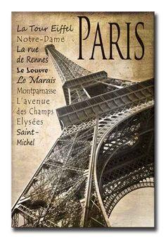 35410304 / Cuadro Torre Eiffel vintage