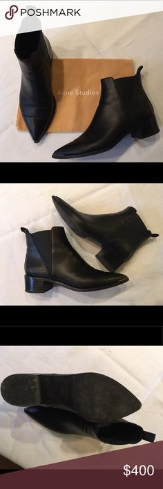 ACNE Studios Black Jensen Boot - 37 (US 7) Black Acne Jensen Boot in size 37 (US 7). Worn lightly and in good condition with dust bag. Acne Shoes Ankle Boots & Booties