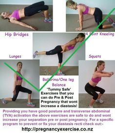 Post pregnancy exercises.