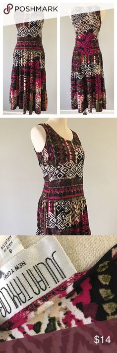 Julian Taylor Boho Print Dress Julian Taylor Boho Print Dress. Size 6 with stretch. In great condition. Hits past the knee in length. julian taylor Dresses Midi