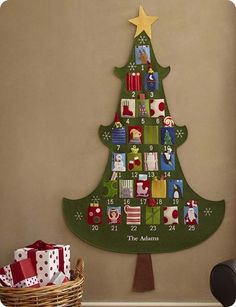 Family Ever After....: Pottery Barn Inspired Christmas Tree Advent Calendar FULL Tutorial