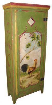 Lone Rooster 1-Door Cabinet