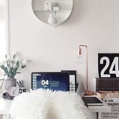 Out Metro table lamp looking at home in this stylish work space by @erin.haldane