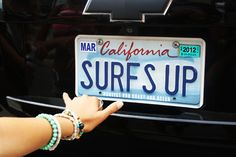 I wish I lived in California and had a Chevy with a license plate that said surfs up because I surf in the ocean in my back yard every summer Pink Summer, Summer Of Love, Summer Fun, Summer Time, Summer Nights, Summer Beach, Summer Things, Summer Dream, Surfs Up