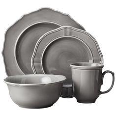 Threshold� 16 Piece Wellsbridge Dinnerware Set - Charcoal