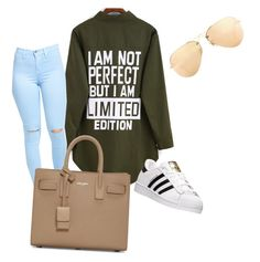 """⚡️"" by qqueeen on Polyvore featuring interior, interiors, interior design, home, home decor, interior decorating, adidas, Yves Saint Laurent and Ray-Ban"