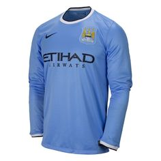 Nike Manchester City 2013/2014 LS Home Soccer Jersey