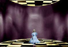 :Carol Marsh in Alice in Wonderland Go Ask Alice, Art Thou, Fantasy Movies, Through The Looking Glass, Alice In Wonderland, Madness, Salmon, Dancing, Rabbit