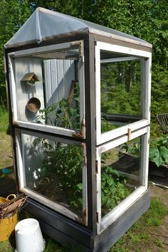 "4x4 Greenhouse for a ""square foot garden"" ... I could do that!"