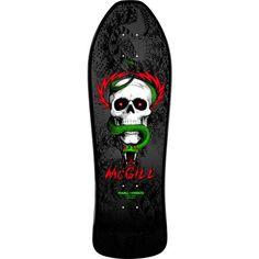 Bones Brigade Mike McGill Skull & Snake Reissue Deck Black - 9.75 x 30