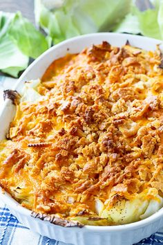 Old-Fashioned Cabbage Casserole - - Old-Fashioned Cabbage Casserole is a southern favorite with a creamy cabbage filling topped with buttery cracker crumbs. This creamy, cheesy casserole is comfort food at its best. Casserole Dishes, Casserole Recipes, Lasagna Casserole, Chicken Casserole, Gourmet Recipes, Cooking Recipes, Yummy Recipes, Yummy Food, Vegetable Casserole