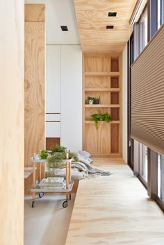 33 Square Meters Compact House with Innovative Vertical Architecture and Natural Decor Interior Design Home Plywood Interior, Plywood Walls, Interior Paint, Home Design, Design Ideas, Muji Home, Compact House, Built In Furniture, Interior Photo